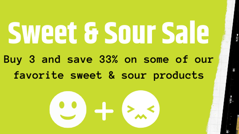 sweet and sour sale